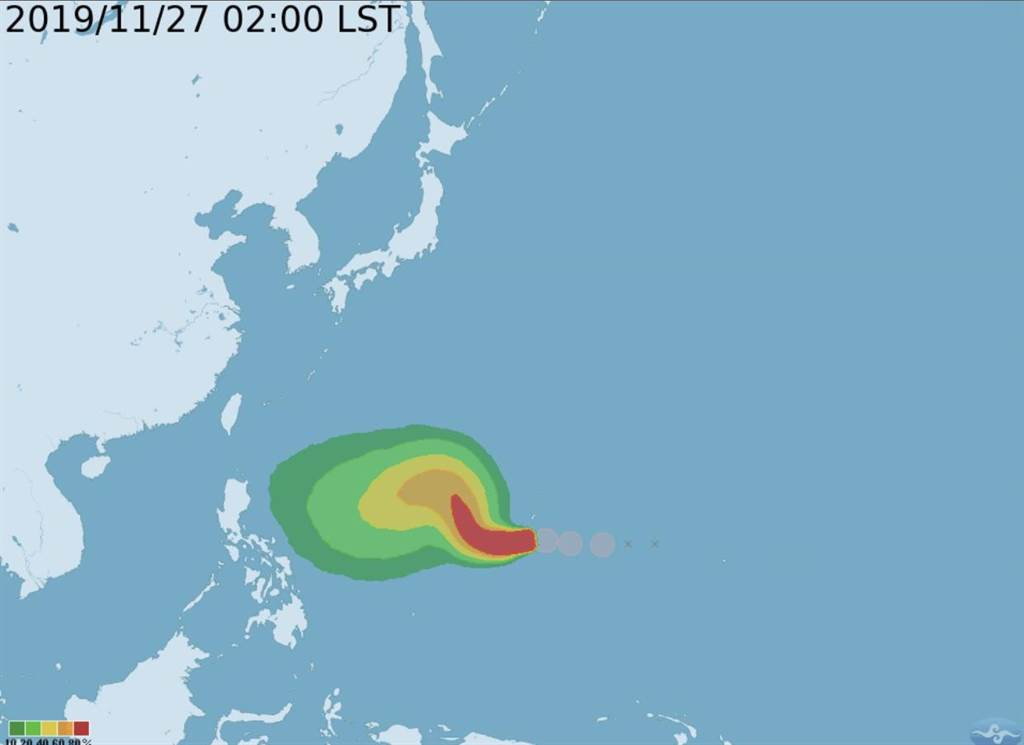 颱風路徑預測圖(圖/中央氣象局 提供)