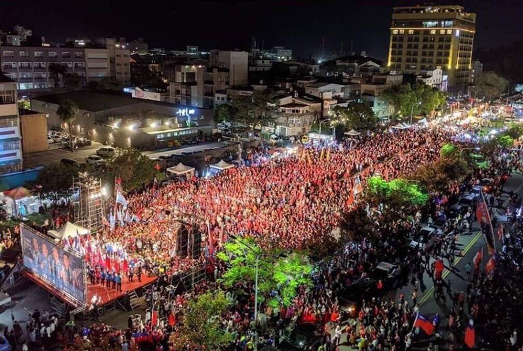 國民黨總統候選人韓國瑜,26日在台東舉辦造勢活動。(圖/取自 韓國瑜官方臉書 )