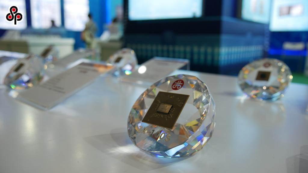 圖為今年5月大陸軍事博物館展出大陸企業開發的晶片。(本報系資料照片)