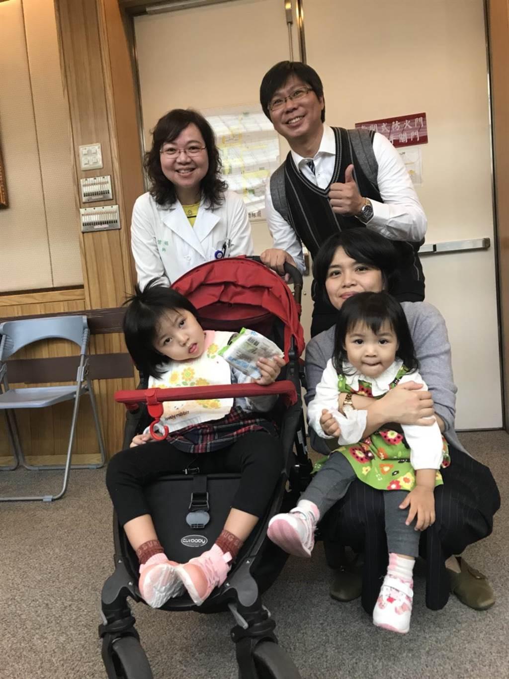 台大醫院今天幫翁小妹妹慶生,祝福她有更好的人生。鄭郁蓁/攝影
