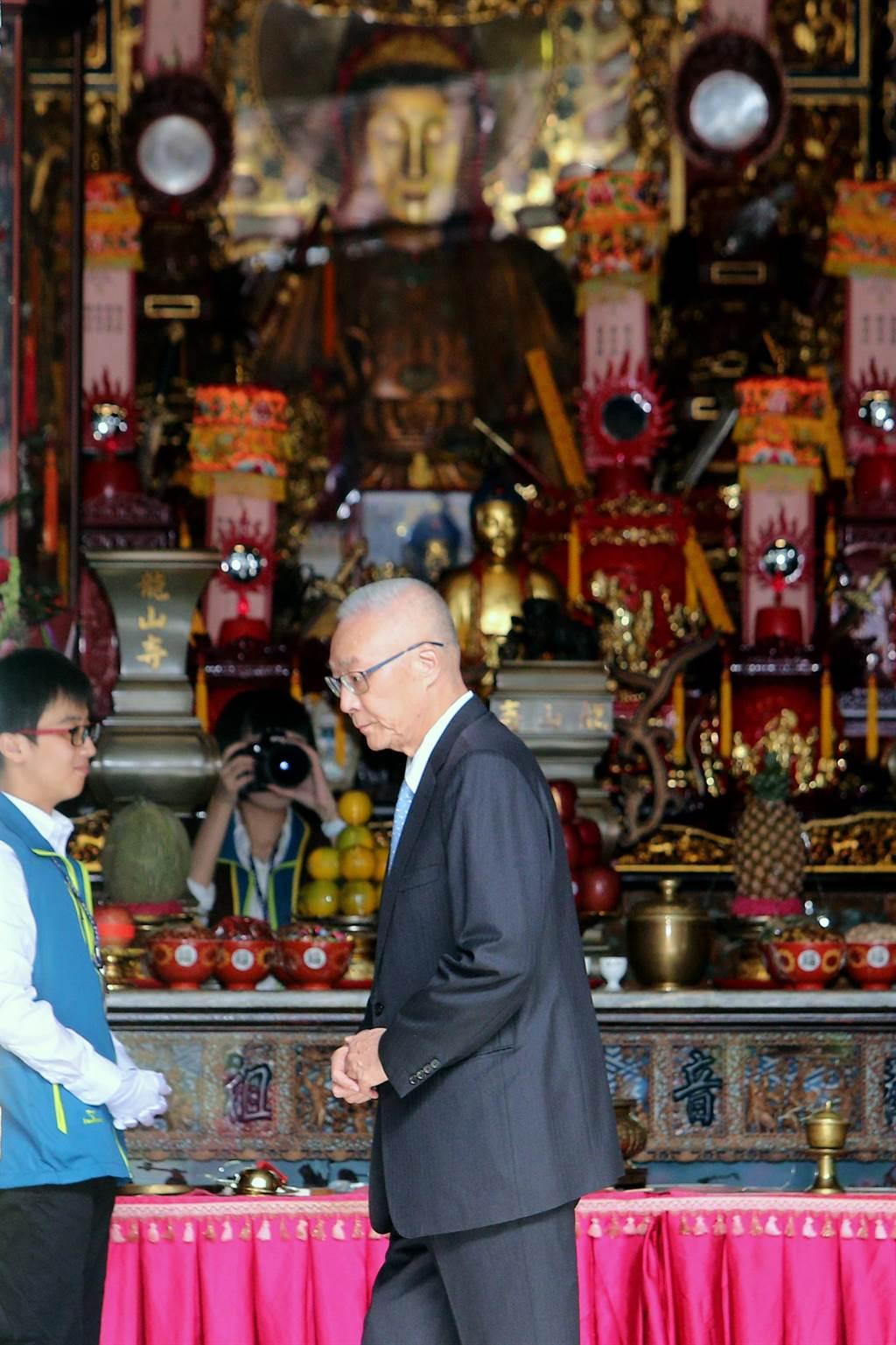 國民黨主席吳敦義出席並致詞。(黃世麒攝)