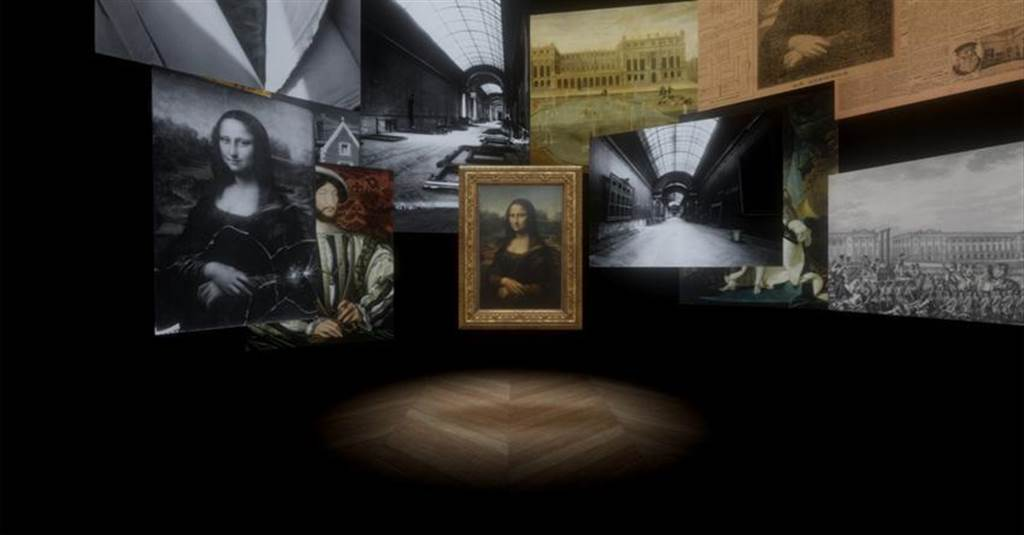 故宮12月將推出VR作品展,圖為蒙娜麗莎:越界視野VR。(圖/羅浮宮提供)