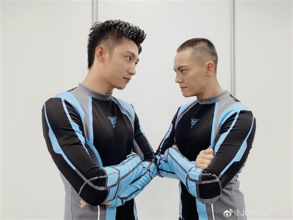 黃景瑜(左)也是《追我吧》的同場嘉賓,高以翔倒下時就在他旁邊。(圖/翻攝自微博)