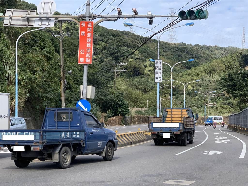 「龜山區台1甲省道萬壽路一段(東萬壽路309巷-萬壽路一段1275巷)」將進行科技執法。(甘嘉雯攝)