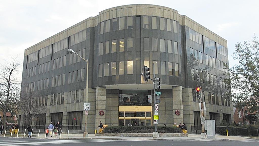 中華民國駐美代表處的辦公大樓在當年台美斷交後,搬到位於華府的威斯康辛大道上。(中央社)
