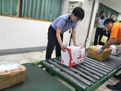 毒梟用雙十一闖關 上百公斤毒品遭海關攔截