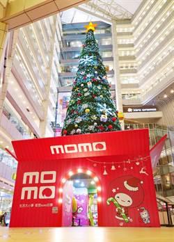 富邦媒歡慶聖誕 打造17米聖誕樹成IG打卡熱點