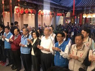 韓參拜宜蘭昭應宮 廟方祝禱:總統換韓快樂幸福