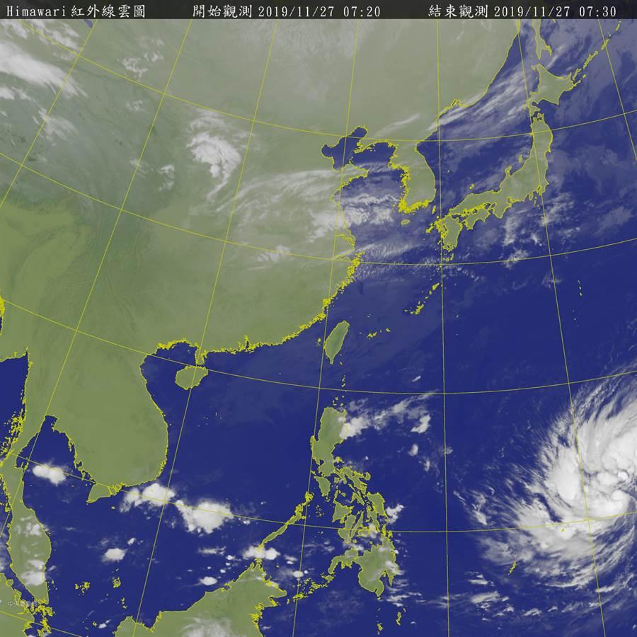 北冕影響台灣時間曝光,氣象專家表示,北轉角度是關鍵。(圖/氣象局)