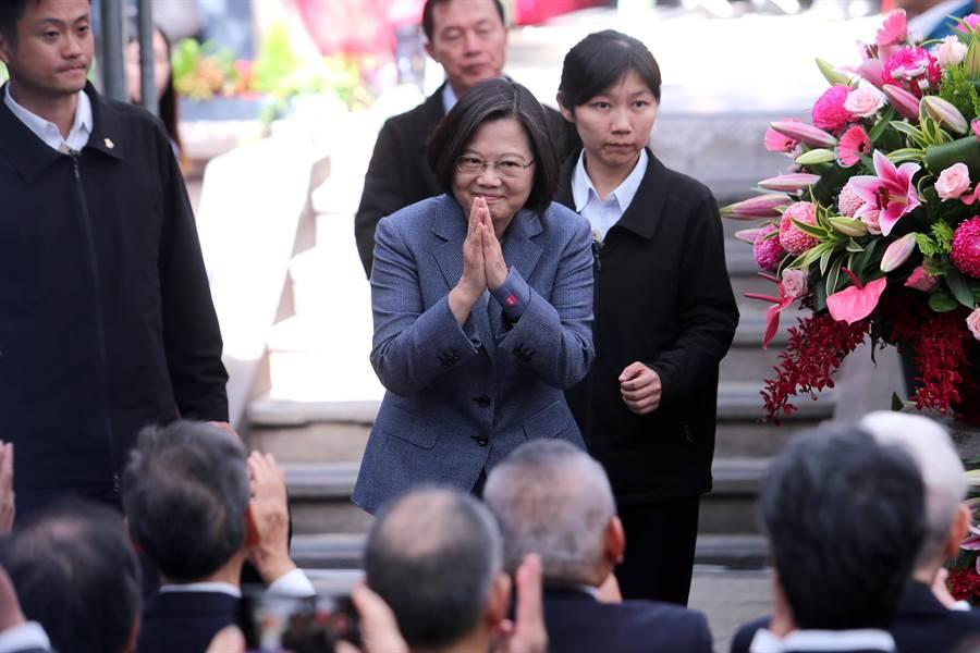 蔡英文總統出席龍山寺建寺280年紀念活動。(黃世麒攝)