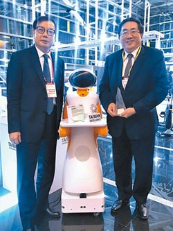 東元大滿貫 送餐服務機器人鍍銀