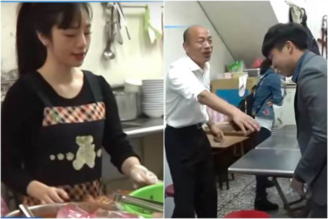 愛平民美食!捕獲野生韓國瑜大啖羅東肉羹 老闆娘嚇到。(圖/摘自中天新聞)
