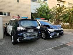 執行賴清德拜廟特勤 2警車與大貨車相撞5員警受傷