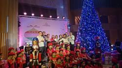 五星級飯店豎立室內最高耶誕樹 義賣蛋糕捐贈流浪動物之家