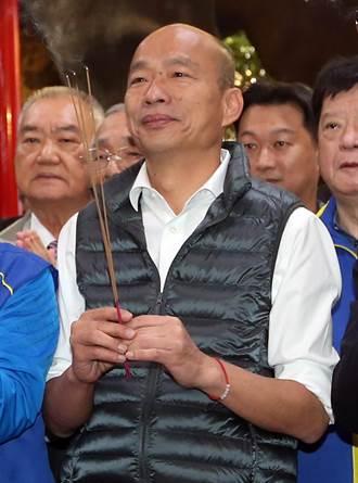 韓參拜北市城隍廟 再提45歲以下軍公教出國進修政見