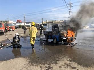 後龍一蔥油餅車火警全燒毀