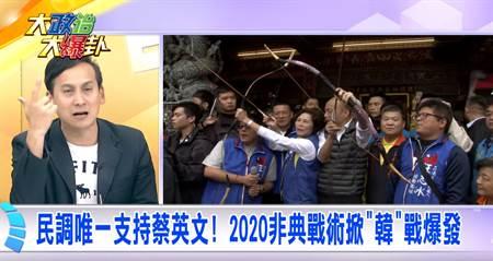 民調唯一支持蔡英文 2020非典戰術掀「韓」戰爆發