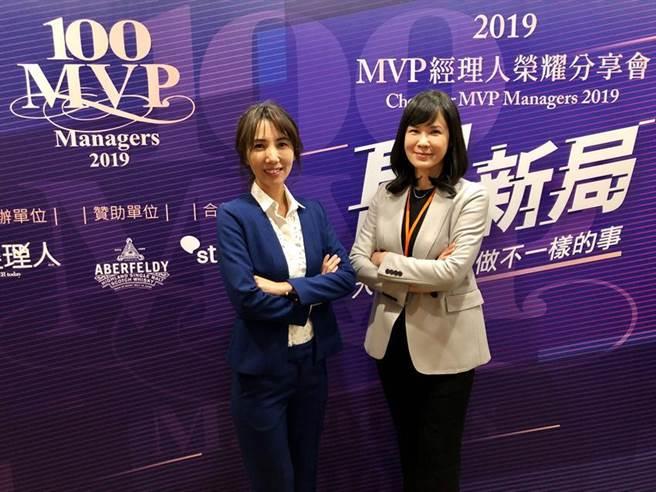 創業家集團共同創辦人廖家欣及吳佩雯分別喜獲「台灣Super MVP 經理人」。的最高榮譽獎項及「台灣百大MVP經理人」殊榮。