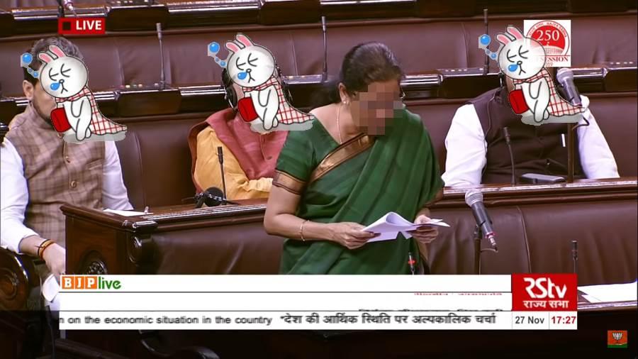 最狂國會質詢 議員當場睡到嘴開開(圖/ 摘自YouTube影片)