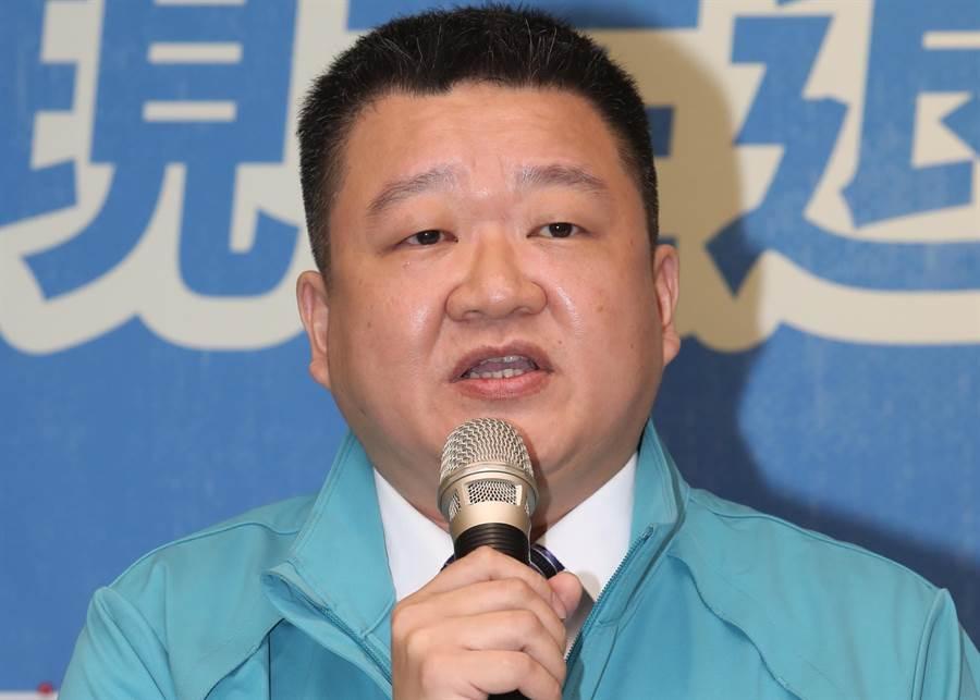 民進黨發言人何博文。(圖/劉宗龍攝)