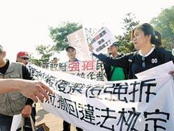 國道1號大雅交流道 抗議聲中動工