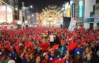 韓國瑜屏東造勢 旗海飄揚湧進3萬人潮