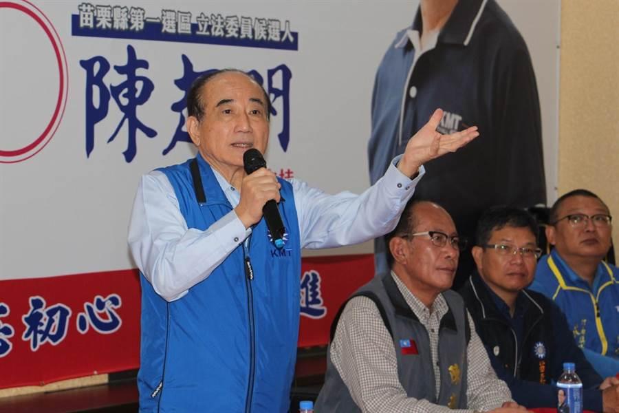 王金平1日南下助選立委陳超明爭取連任。(何冠嫻攝)