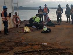疑因錯估海底深度 台北港3移工落海亡