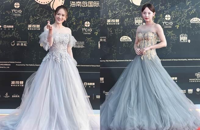 陳喬恩和張嘉倪都穿上仙氣禮服。(圖/翻攝自新浪娛樂)
