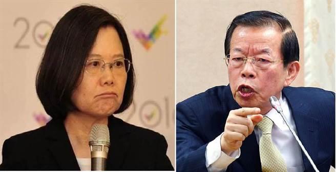 總統蔡英文(左)、駐日代表謝長廷(右)。(圖/合成圖,本報資料照)