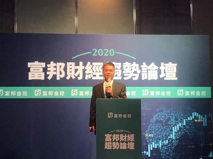 富邦投顧樂觀預期2020台股將突破歷史高點,上看12,800點,圖為富邦投顧董事長蕭乾祥。圖/陳昱光