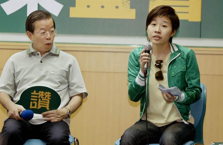 「卡神」楊蕙如(右)遭北檢查出是綠營網軍首領,淡江大學教授包正豪提問:楊蕙如是誰養的?(中時資料照)