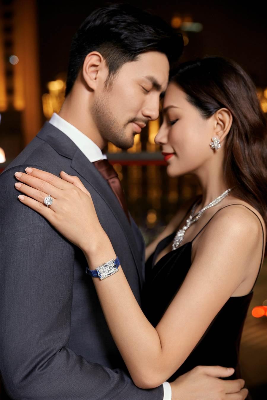 海瑞溫斯頓在年底結婚季主打Bridal系列鑽戒。(HARRY WINSTON提供)