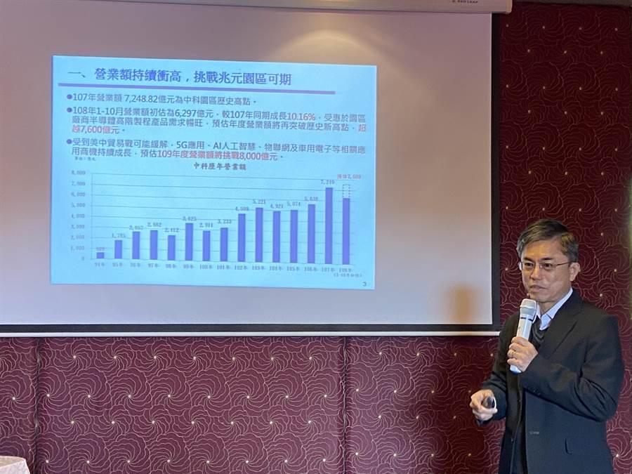 中科管理局長許茂新表示,今年度度截至11月底引進18家廠商,投資金額達58.12億元,增資金額303.25億元,提前完成年度招商目標。(盧金足攝)