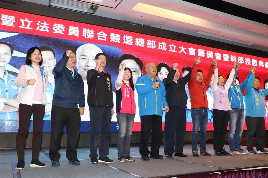 國民黨榮譽主席吳伯雄今出席大會。(吳亮賢攝)