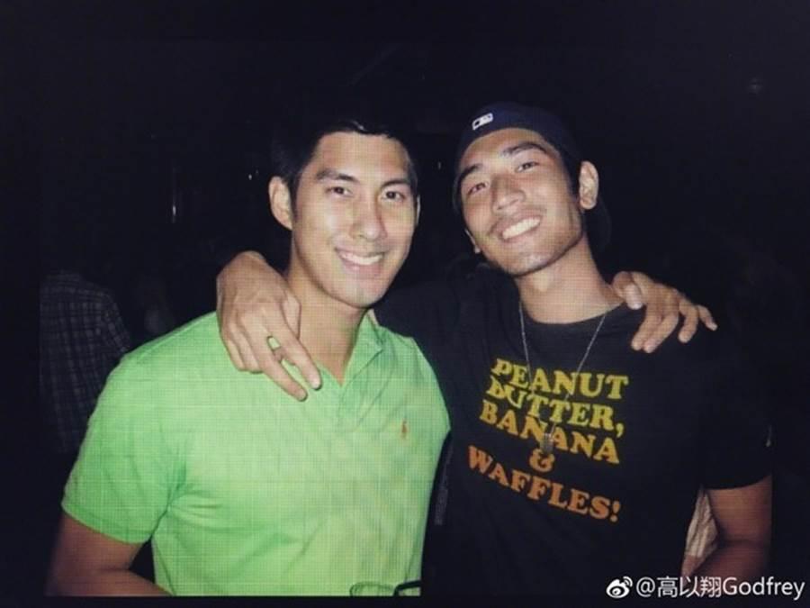 前璞園球星毛加恩(左)也和高以翔、簡浩是好友。(圖/翻攝自毛加恩IG)