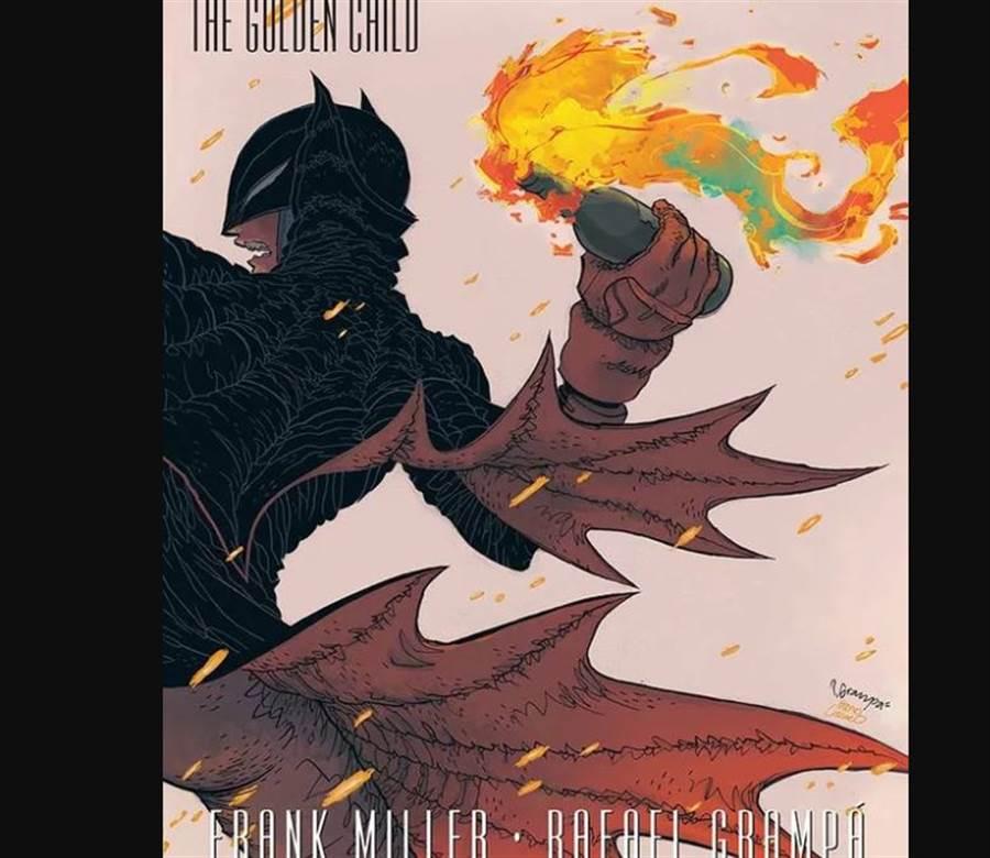 DC撤掉的蝙蝠女俠拿汽油彈的海報。(圖/DC comic)