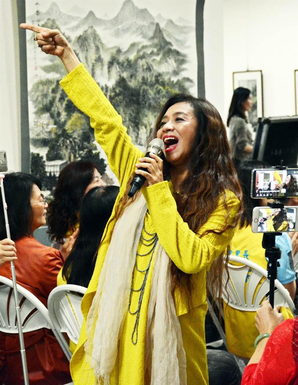 美聲天后許景淳將在屏東市公所舉辦的民歌音樂會中擔綱壓軸。(林和生攝)