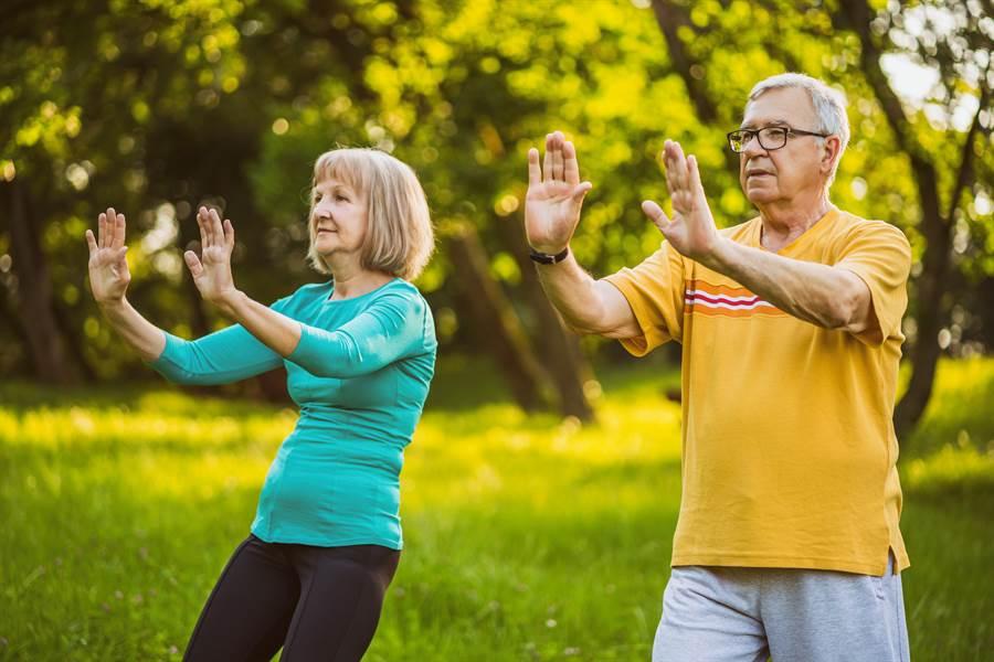 打太極拳是許多銀髮族熱愛的運動,因為溫和又能健身。一項最新研究更指出,固定練習太極拳,可延緩癡呆症病情惡化。(圖摘自shutterstock)