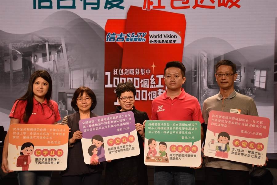 為讓弱勢家庭能暖暖過新年,台灣世界展望會正發起「10000個紅包,10000個契機」行動。(呂妍庭攝)