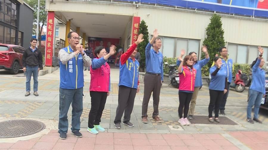 陳超明競選海線立委連任,8鄉鎮宣傳車隊2日正式開跑。(陳超明團隊提供/何冠嫻苗栗傳真)