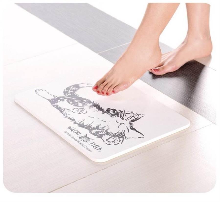 新竹SOGO12月4日的來店禮「達洋貓珪藻土吸水墊」,兼具質感與實用,將造成熱搶。(新竹SOGO提供/陳育賢新竹傳真)