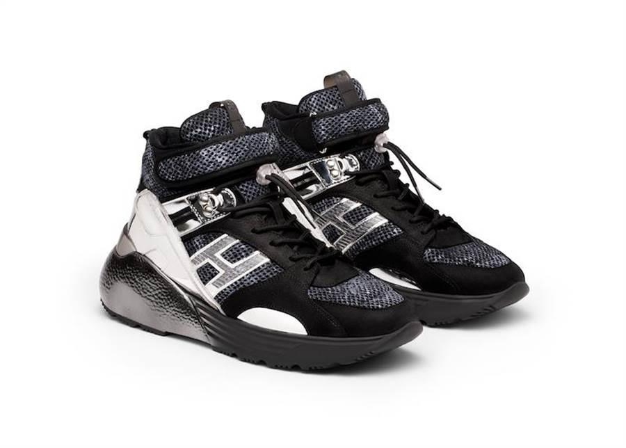 HOGAN Active One皮革亮鏡面男士休閒鞋,3萬2300元。(HOGAN提供)