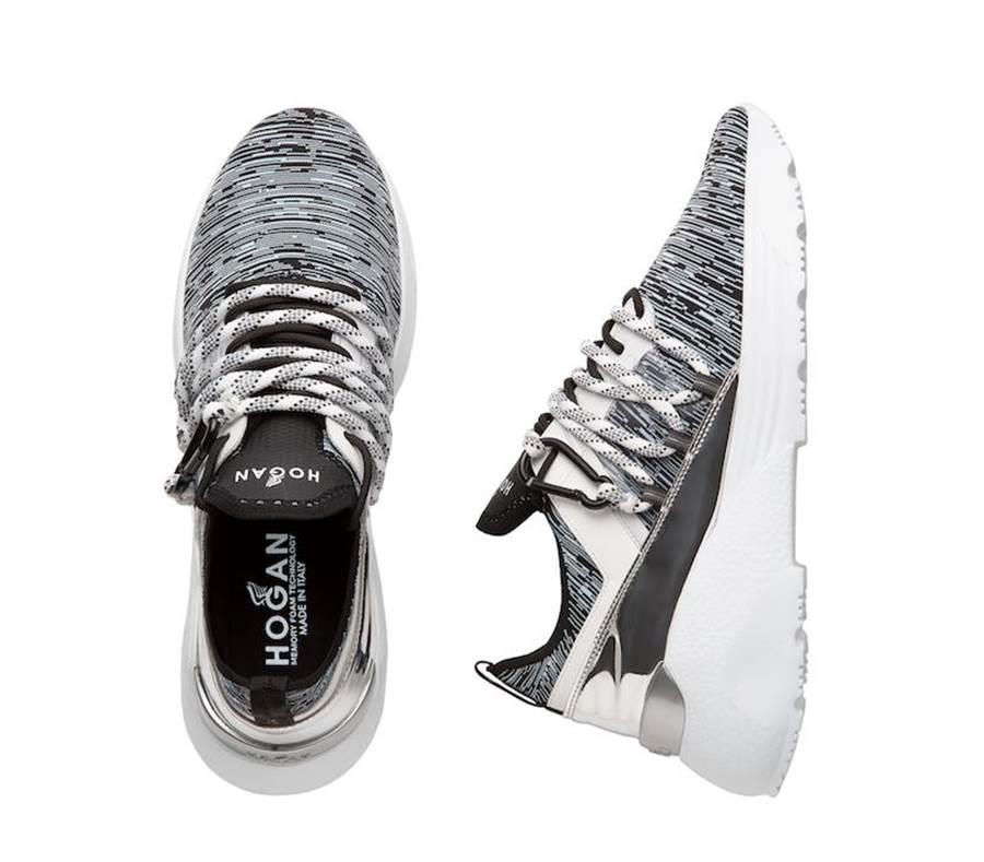 HOGAN Active One針織科技布料男士休閒鞋,2萬7300元。(HOGAN提供)