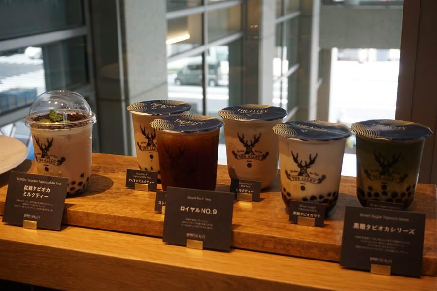 在日本爆紅的珍珠奶茶。(黃菁菁攝)
