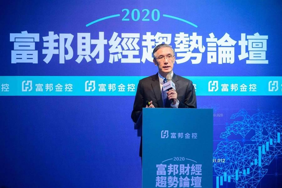富邦金控經濟研究處首席經濟學家羅瑋模擬2020年全球經濟3大情境,並提供2020投資方向。(富邦金提供)