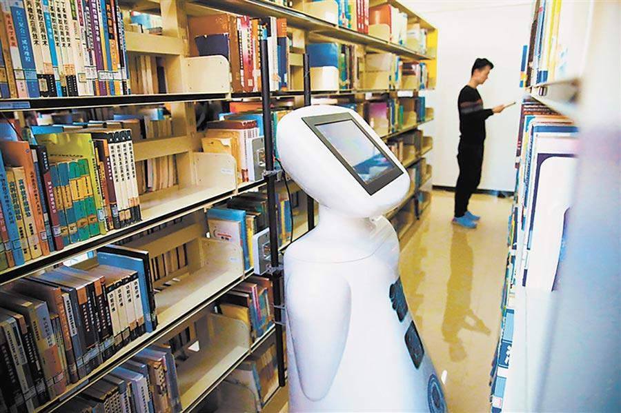 正在工作的「智圖」機器人。(張立、趙暉攝)