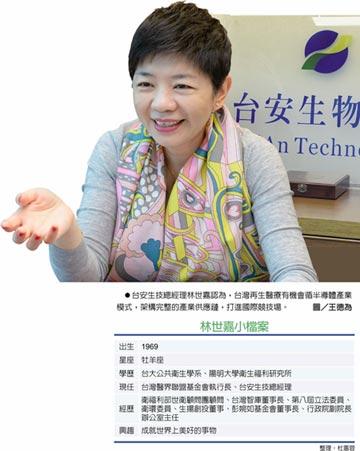台安生技總經理林世嘉:台灣再生醫療 黃金紀元啟動