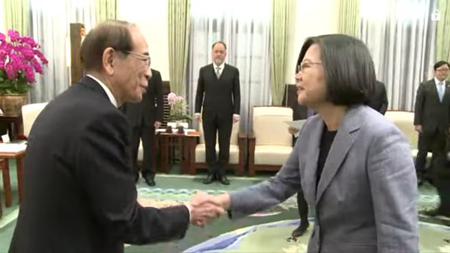 蔡英文總統接見大橋光夫(取自總統府網站)