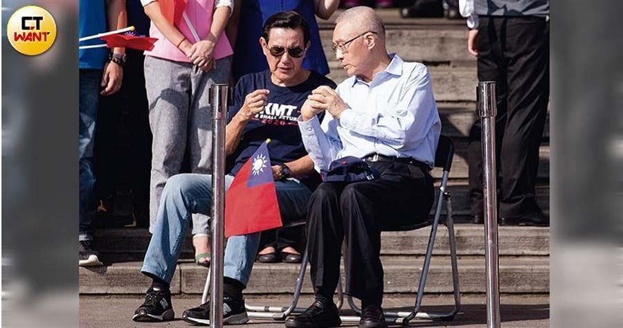 邱毅指控馬英九干預不分區立委提名,吳曾親向馬英九澄清,有意爭取馬成為主席保衛戰盟友。(圖/黃威彬攝)